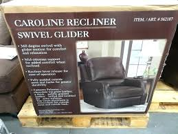 synergy leather recliner costco review swivel glider