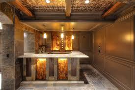 basement bar stone. Stunning Bar Design For Basement Decoration : Astounding Ideas With White Granite Stone E