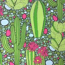 Cactus Flowering Desert Cactus Western Cacti Quilt Cotton Quilting ... & Cactus Flowering Desert Cactus Western Cacti Quilt Cotton Quilting Fabric  AH139 Adamdwight.com
