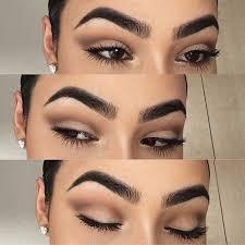 matte brown everyday makeup look