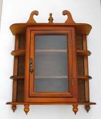 Beauteous Kitchen Wall Mounted Curio Cabinet Featuring Brown ...