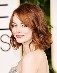 best haircuts for thin hair angled lob emma stone