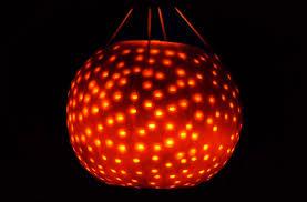 how to easily make a pumpkin disco ball light