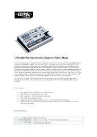 Lvs 400 Professional 4 Channel Video Mixer Maxluxitalia