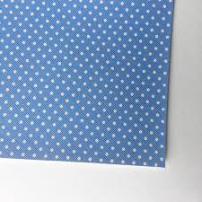 Baby Blue With White Polka Dot Faux Leather Tulip Bloom