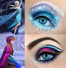 elsa a inspired eye makeup makeup artist tal peleg posted these amazing eye makeup designs based on the two main characters in disney s frozen