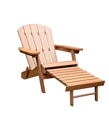 com merry garden faux wood folding adirondack chair with pullout ottoman garden outdoor