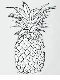 pineapple clipart black and white. pineapple clipart black and white - image (14792) p