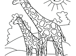 Giraffes Coloring Pages Theaniyagroupcom
