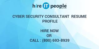 Cyber Security Consultant Resume Profile Hire It People We Get