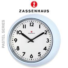 zassenhaus retro wall clock light blue