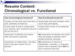 Resume Content: Chronological vs. Functional