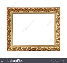 house decor old vintage gold frame isolated with clipping path included