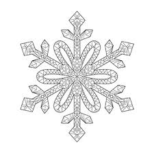 Snowflake Mandala Coloring Page By Delta Class Tpt