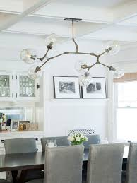 example of a coastal dining room design in los angeles