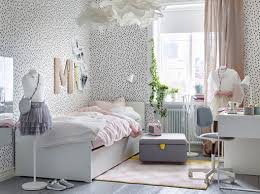 ikea childrens furniture bedroom. childrenu0027s bedroom with white walls black spots and a bed pale pink bedding ikea childrens furniture