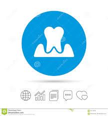 Parodontosis Tooth Sign Icon Dental Care Symbol Stock