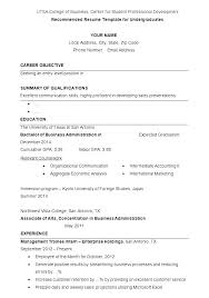 Resume Undergraduate Undergraduate Resume Sample Resume For College Undergraduate N 84