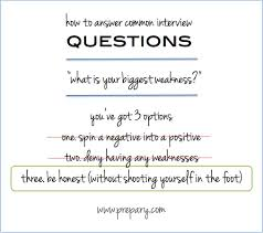 answer the common interview question what is your biggest common interview questions what is your biggest weakness