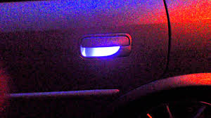 vectra b white led door handle lights