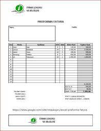 Excel Proforma Fatura Mtaskopru Tasarım