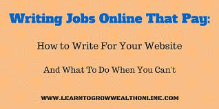 writing jobs online that pay how to write for your own website