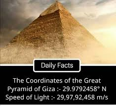 Treasures of ancient Egypt - The coordinates of the Great Pyramid of Giza.  ???? | Facebook