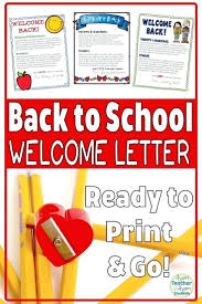 Welcome Back To School Letter Templates Welcome Back Teacher Letter Templates To Students Parents Template
