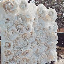 Paper Flower Backdrop Rental Paper Flower Backdrops Wedding Rentals Jacksonville Fl