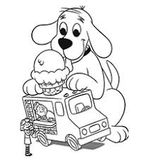 ice cream truck coloring pages. Contemporary Pages TheCliffordtheBigRedDog For Ice Cream Truck Coloring Pages