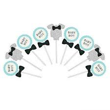 24pcs lot baby boy shower cake toppers