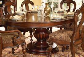 60 inch round pedestal dining table set