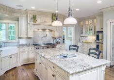 Ordinary White Country Kitchen Cabinets Country Kitchen With White
