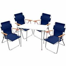 Hewolf <b>Outdoor Folding Table</b> and Chair Set Portable Picnic Table 7 ...