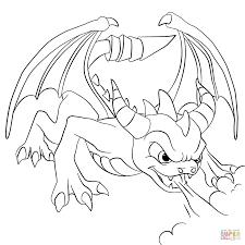 Skylanders Spyros Adventure Dino Rang Coloring Page Free