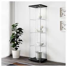 Glass Door Cabinet Detolf Glass Door Cabinet Black Brown Ikea