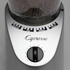 This is not a 5 star grinder because coffee experts say this isn't the best grinder for coffees that need very fine grinds. Amazon Com Capresso 560infinity Conical Burr Grinder Brushed Silver 8 5 Ounce Kitchen Dining