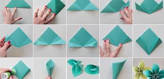 Paper Flower Folding 69 How Do You Make A Paper Flowers Origami In 2019