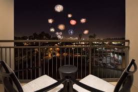 hton inn and suites los angeles anaheim garden grove suite with firework view