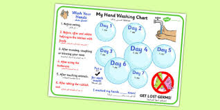 Washing Chart Hand Washing Record Chart Arabic Translation Arabic Hand