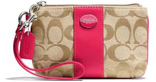 Coach Legacy Small Wristlet in Signature Fabric in Natural - Lyst