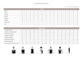 Fiesta Size Chart Size Chart Pronovias Cocktail 2019 Weddingland Barcelona