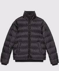 replica gucci mens gg jacquard quilted nylon jacket