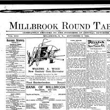 millbrook round table millbrook n y 1892 190 september 09 1904 page 1 image 1 nys historic newspapers