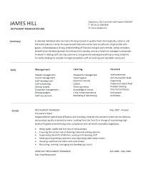 Fast Food Restaurant Manager Resume Sample Resume Of Restaurant Manager Emelcotest Com