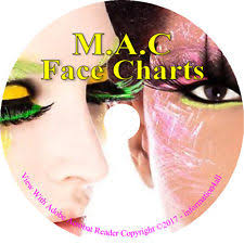 item 3 makeup face charts 1700 mac cosmetic training charts guide costume looks on cd makeup face charts 1700 mac cosmetic training charts guide costume