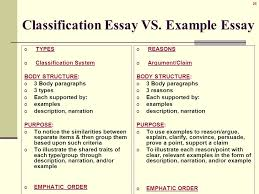 illustration example essay characteristics also known as o  28 classification essay vs