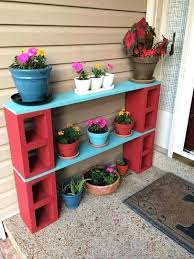 building a plant stand cinder block plant are awesome garden yard ideas diy outdoor plant stand
