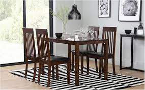 terrific milton dark wood dining table and 4 chairs set oxford dark only inspiring composition dark wood dining table with grey chairs