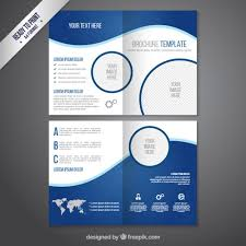Microsoft Flyer Template Free Download Brochure Template In Blue Tones Vector Free Download